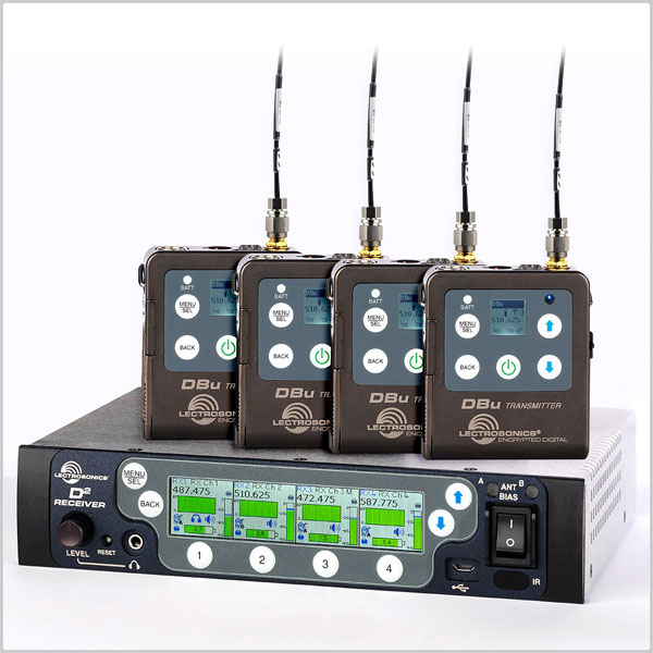 Lectrosonics DSQD 4-Channel Digital Receiver w/ 4 x DBu Transmitters Bundle